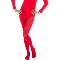 Collants opaque rouge adulte taille S-M Accessoires de fête 842507302