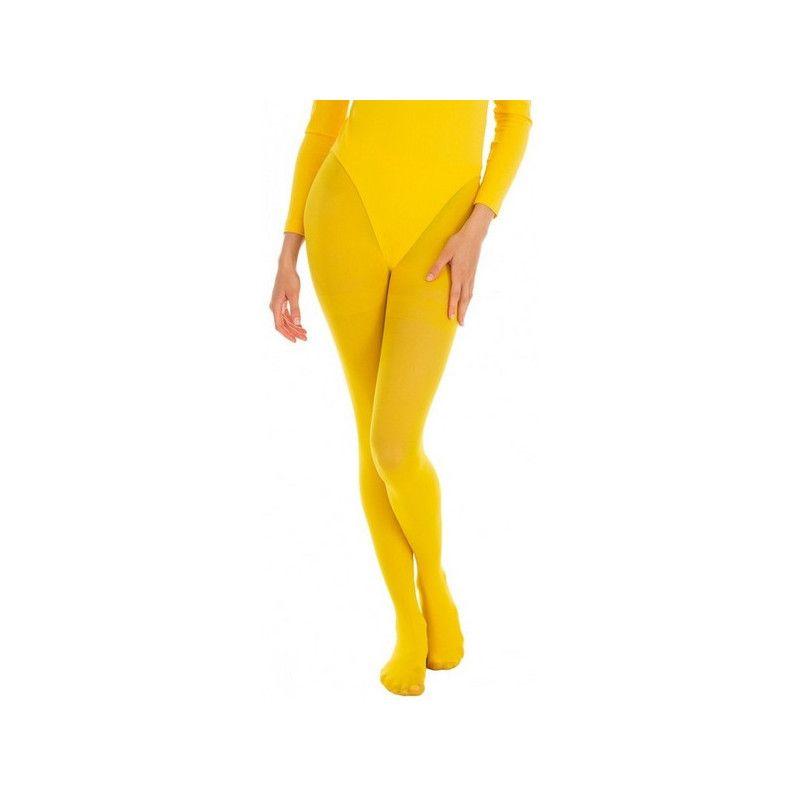 Collants opaque jaune adulte taille S-M Accessoires de fête 842507308