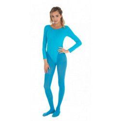 Body manches longues turquoise adulte taille S-M Accessoires de fête 8425078910