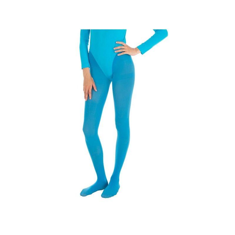 Collants opaque turquoise adulte taille S-M Accessoires de fête 8425073010