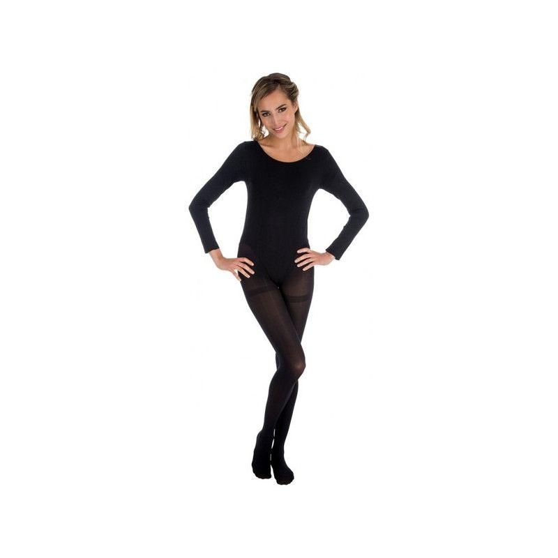 Body manches longues noir adulte taille S-M Accessoires de fête 842507891