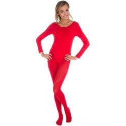 Body manches longues rouge adulte taille S-M Accessoires de fête 842507892