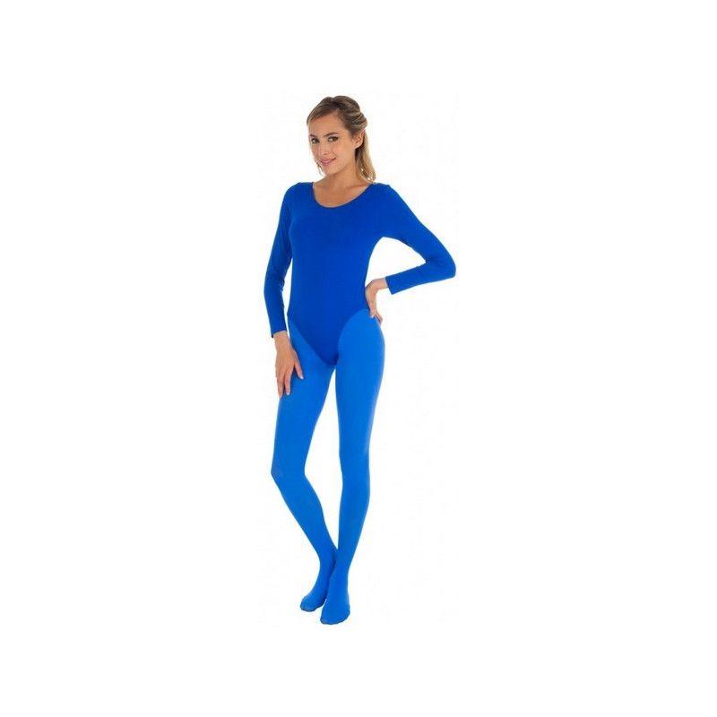 Body manches longues bleu adulte taille L-XL Accessoires de fête 842507906