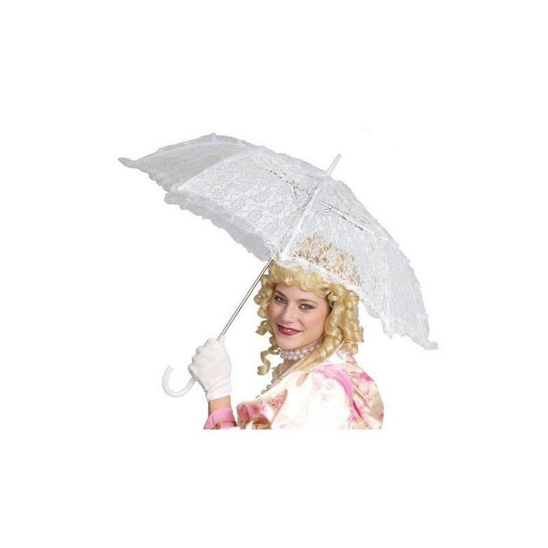 Ombrelle blanche dentelle Accessoires de fête 16499