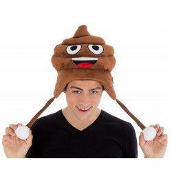 Accessoires de fête, Bonnet crotte Emoji humoristique, C4389, 14,90€