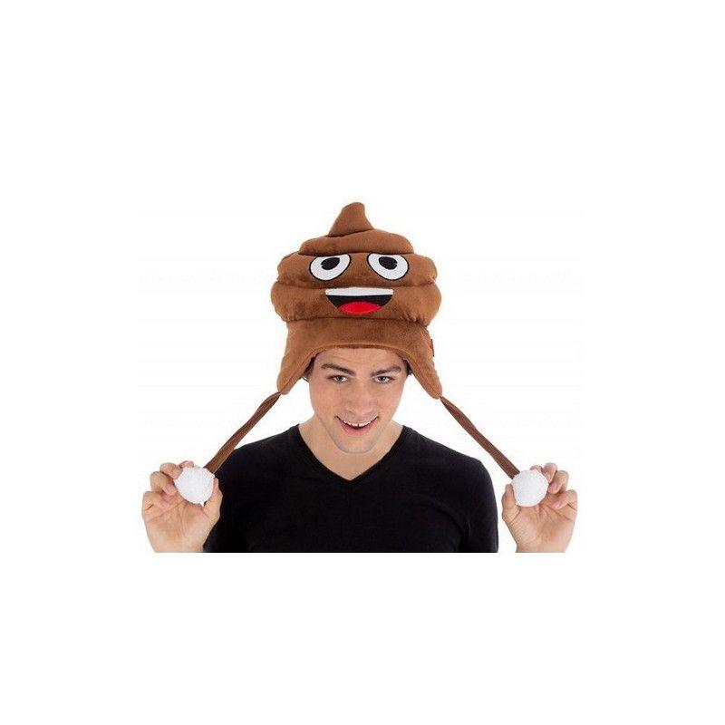 Bonnet crotte Emoji humoristique Accessoires de fête C4389
