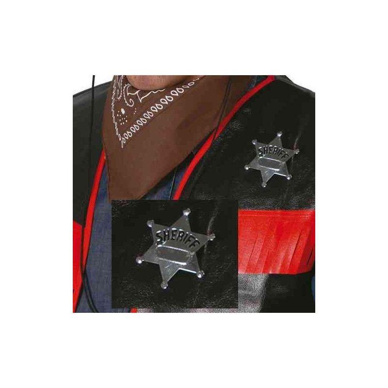 Etoile de shérif en métal Accessoires de fête 16504