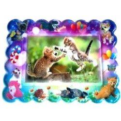 Déco festive, Cadre PVC couleur animaux, 13002, 0,74€