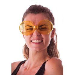 Lunettes hippie géantes jaunes Accessoires de fête 8571770