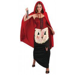 Déguisements, Costume Petit Chaperon Rouge sanglant femme, 89127, 31,90€