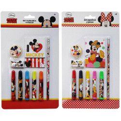 Jouets et kermesse, Set de papeterie 9 pièces Mickey ou Minnie, WA2055074, 3,50€