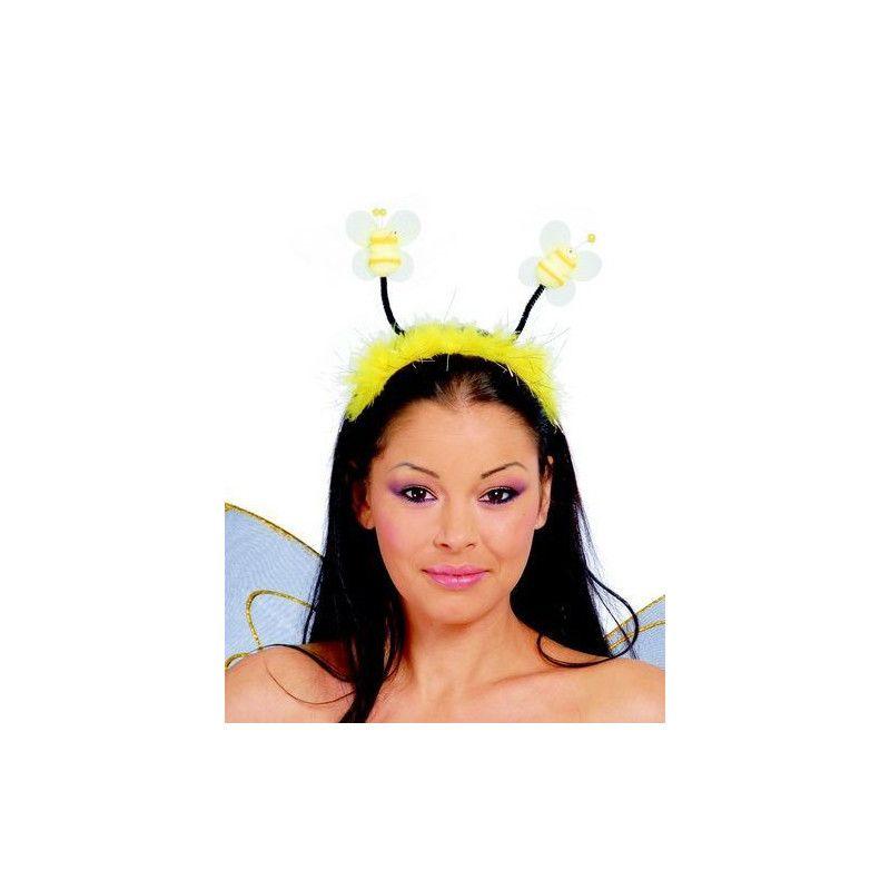 Serre-tête avec antennes abeille Accessoires de fête 16575