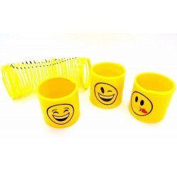 Ressort jaune bonhomme sourire vendu par 48 Jouets et articles kermesse 00583-LOT