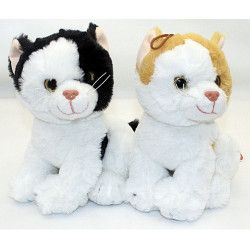 Peluche chat assis 22 cm Jouets et kermesse 4508
