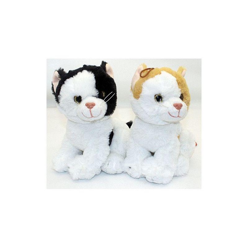 Peluche chat assis 22 cm Jouets et articles kermesse 4508