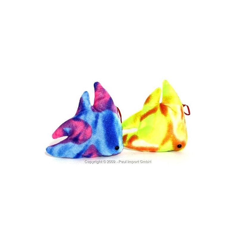 Peluche poisson multicolore 14 cm Jouets et articles kermesse 5832