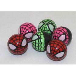 Lot 100 balles rebondissantes visage araignée 3.2 cm Jouets et articles kermesse 6133-LOT