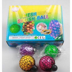 Lot 12 balles anti-stress 6 cm coloris assortis kermesse Jouets et articles kermesse 6138-LOT