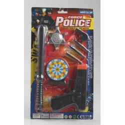 Blister policier 37 x 21 cm avec accessoires. Jouets et articles kermesse 6752