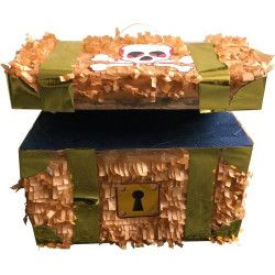 Pinata coffre de pirate à casser Déco festive 29502