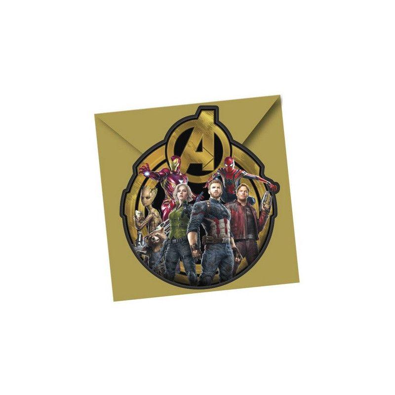 Cartes invitation anniversaire Avengers Infinity War™ x 6 Déco festive LAVE89483