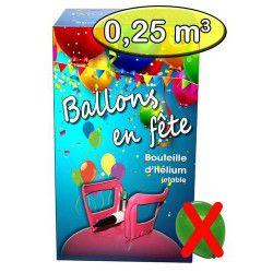 Déco festive, Bouteille hélium 0.25 m3 sans ballons, 245459, 29,90€