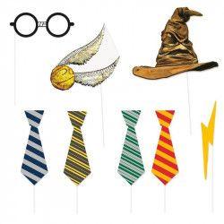 Kit photobooth Harry Potter 8 accessoires Accessoires de fête U59070
