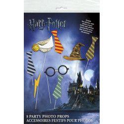 Accessoires de fête, Kit photobooth Harry Potter 8 accessoires, U59070, 5,90€