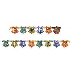 Guirlande Happy Birthday Harry Potter™ 182 cm Déco festive U59080