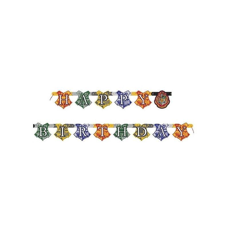 Guirlande Happy Birthday Harry Potter™ 182 cm Déco festive U59080