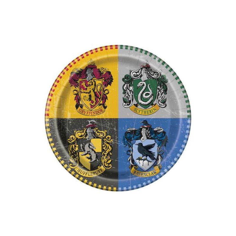 Assiettes rondes 23 cm Harry Potter™ x 8 Déco festive U59105