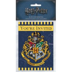 Cartes invitation Harry Potter™ x 8 Déco festive U59114