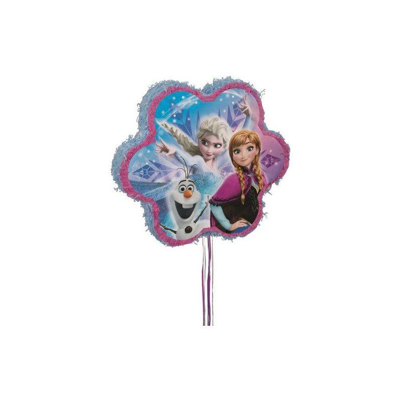 Pinata anniversaire Reine des Neiges avec ficelles Déco festive U66004