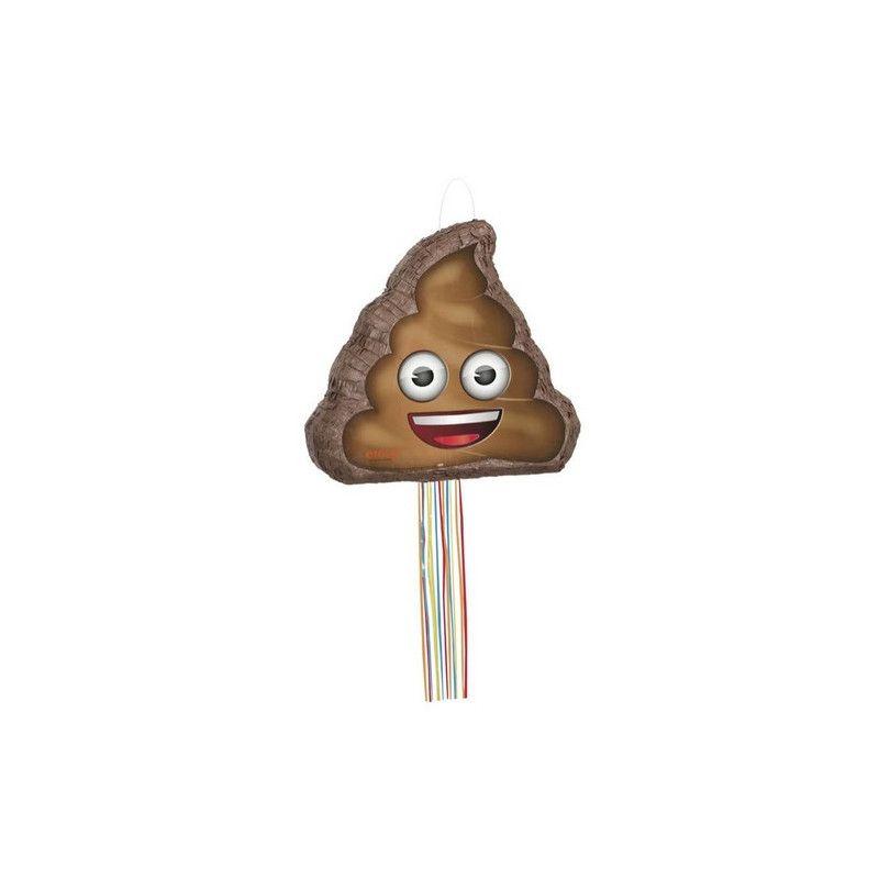 Déco festive, Pinata anniversaire Pop crotte Emoji avec ficelles, U66189, 22,90€