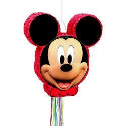 Déco festive, Pinata anniversaire Mickey Mouse avec ficelles, U66309, 22,90€
