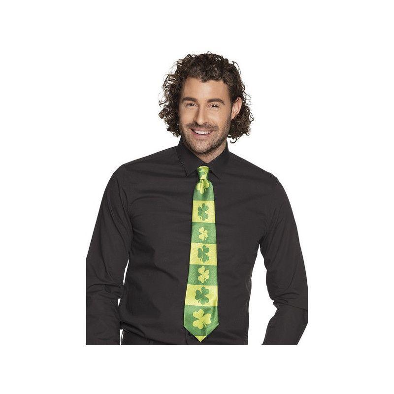 Cravate verte shamrock St Patrick's Day Accessoires de fête 44916