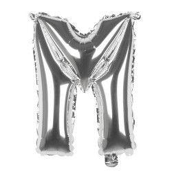 Ballon aluminium argent 36 cm - lettre M Déco festive 22112
