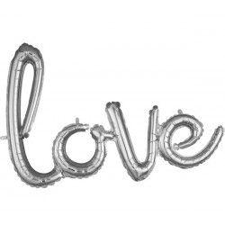 Ballon aluminium Love argent 78 cm Déco festive 3669511