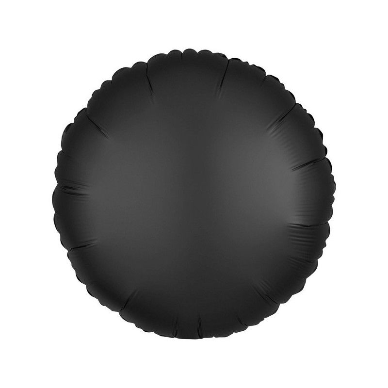 Ballon métallisé Satin Luxe Onyx rond 43 cm Déco festive 3803401