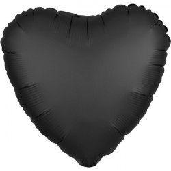Ballon métallisé Satin Luxe Onyx coeur 43 cm Déco festive 3803501