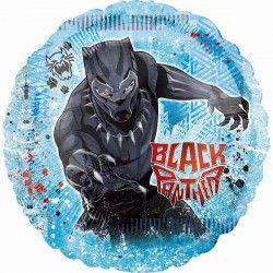 Ballon aluminium Black Panther™ 71 cm Déco festive 3895101