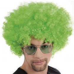 Perruque afro verte adulte Accessoires de fête 86018