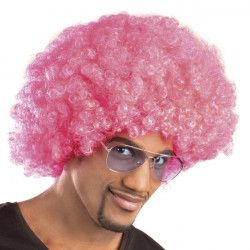 Accessoires de fête, Perruque afro rose adulte, 86019, 6,90€