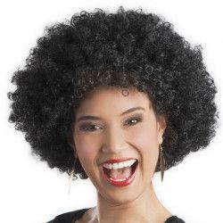 Accessoires de fête, Perruque afro noire adulte, 86020, 7,90€