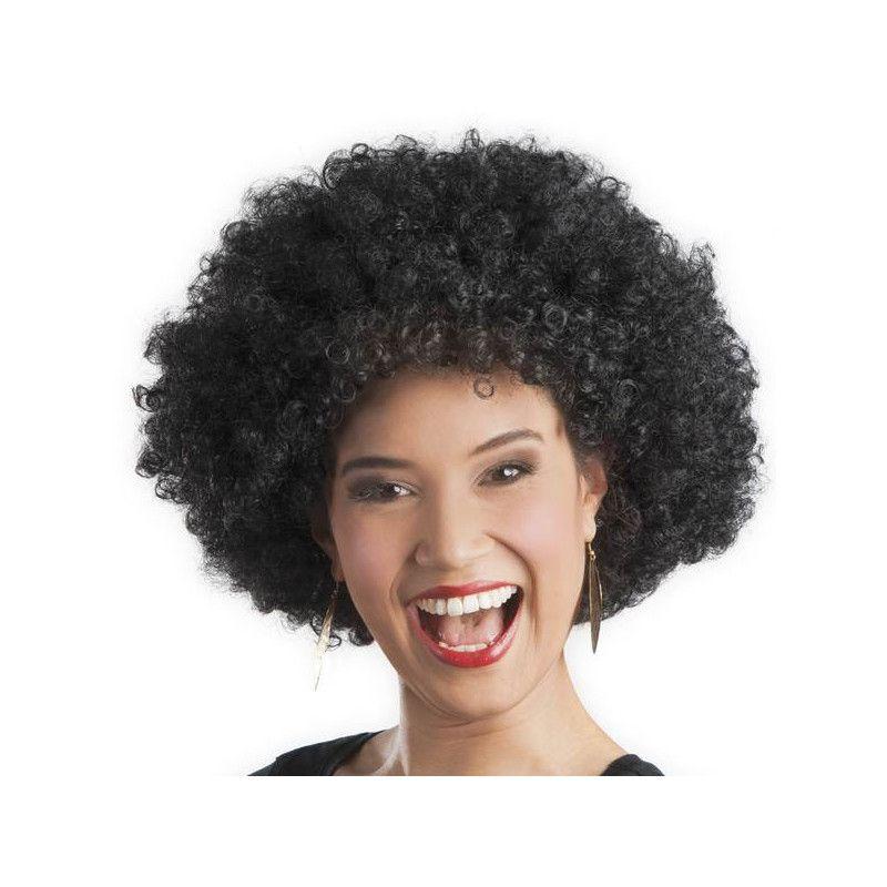 Smiffys Perruque afro effet mouill/é boucl/ée Taille Unique noire