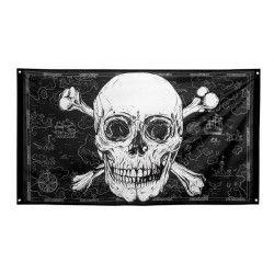 Drapeau pirate 150 cm Déco festive 74108