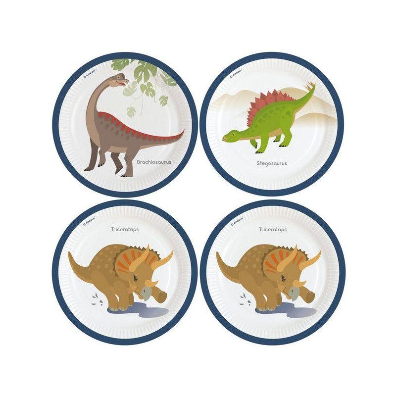 Assiettes jetables x 8 Happy Dinosaure 23 cm Déco festive 9903969