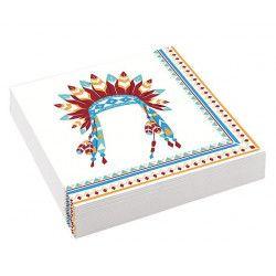 Déco festive, Lot 20 serviettes Tipi Indien 33 cm, 9904136, 2,50€