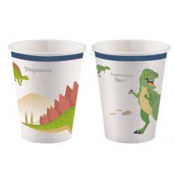 Lot 8 gobelets carton Happy Dinosaure 25 cl Déco festive 9903971