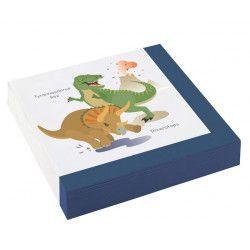 Déco festive, Lot 20 serviettes Happy Dinosaure 33 cm, 9903973, 2,50€